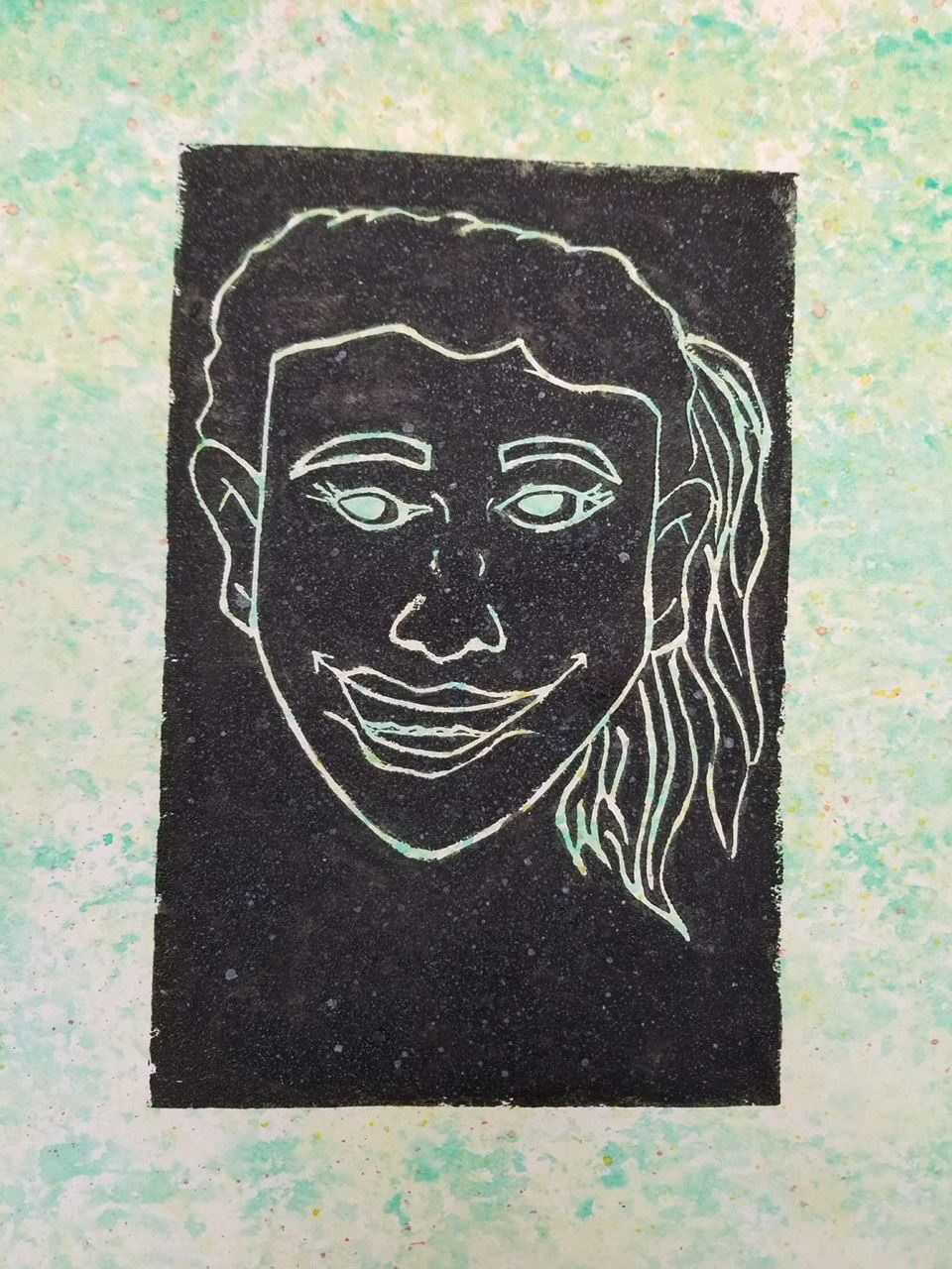 Print Making by Jessica Montanez - Honorable Mention