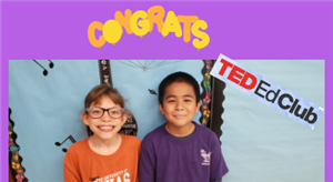 TED ED Club Recognition