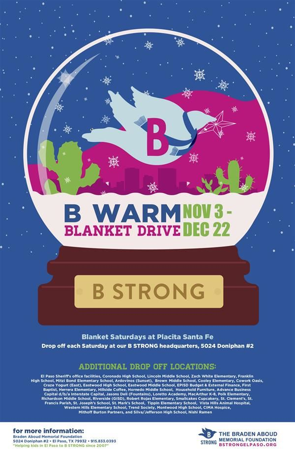 Braden Aboud B Warm Blanket Drive