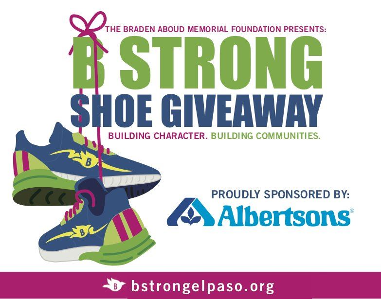 Braden Aboud Foundation Shoe Giveaway Awarded to Cooley