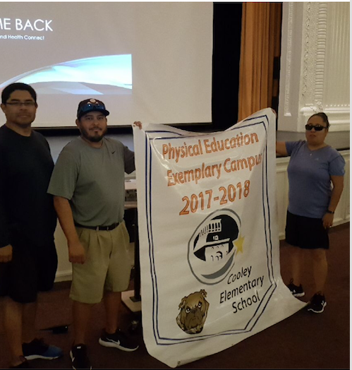 Cooley Coaches Receive Exemplary Physical Education Award