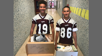 8th Graders Collecting Donations