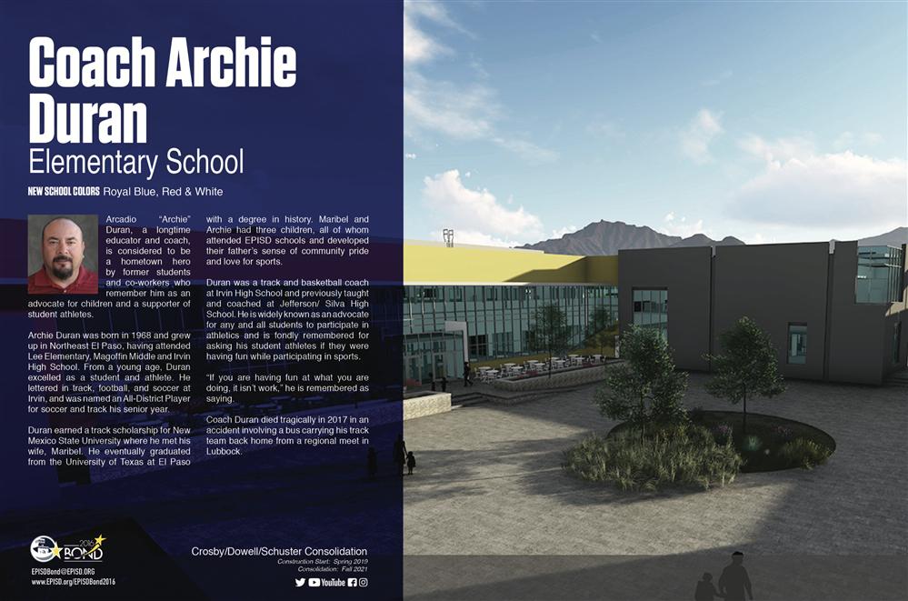 Construction Projects / Coach Archie Duran ES