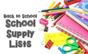 BAck to School Supply Lists