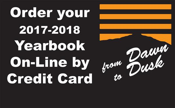 Order Your 2017-2018 Yearbook On-Line by Credit Card