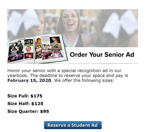 Yearbook Dedication / Ad order form