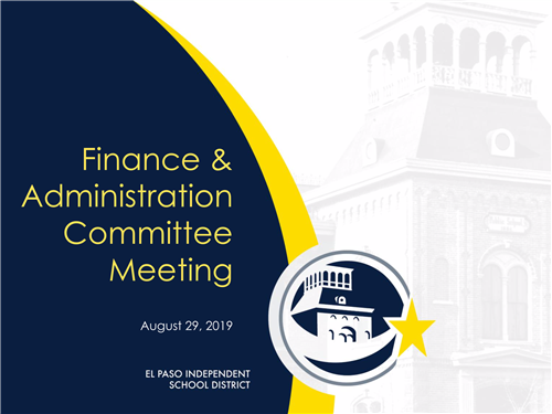 Finance and Administration Committee Meeting
