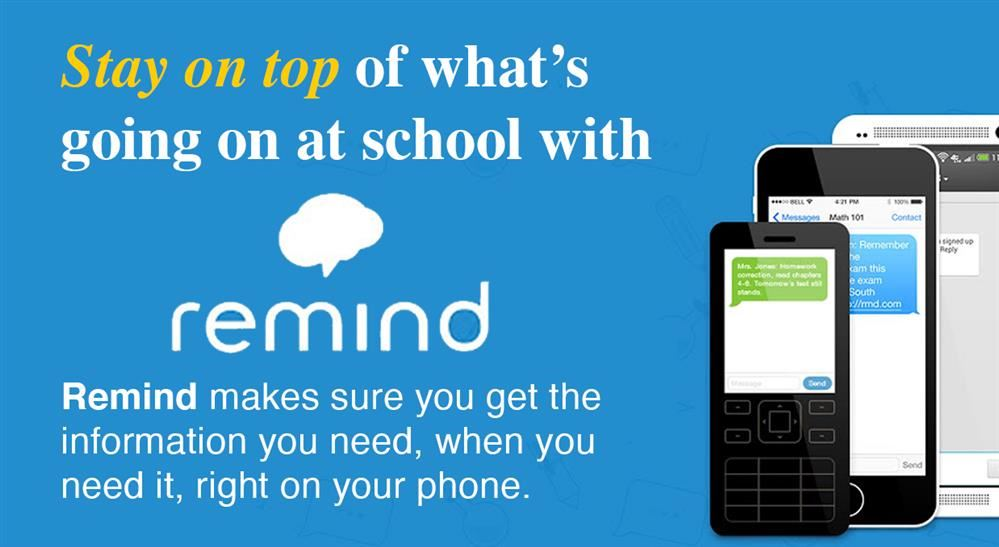 Join Remind and stay informed