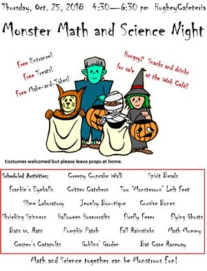 Monster Math and Science Night