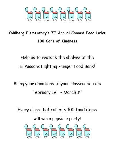 7th Annual Canned Food Drive
