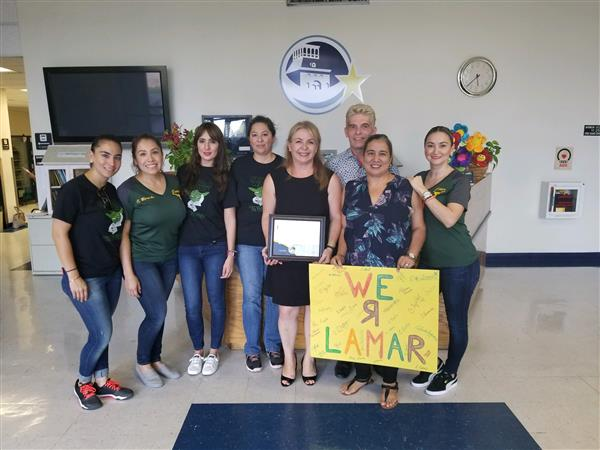 Lamar Honored by TEA and EPISD