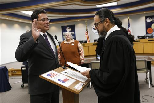 Al Velarde swearing in