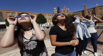 Eclipse 'mania' makes first day of school memorable