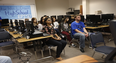 Chapin students speak with 9-11 survivor via teleconference