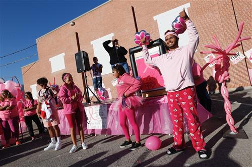Pink Foxes Pep Rally