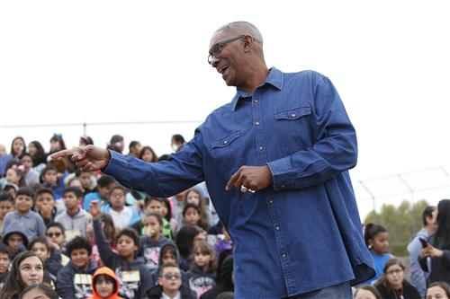 NBA Champ visits EPISD