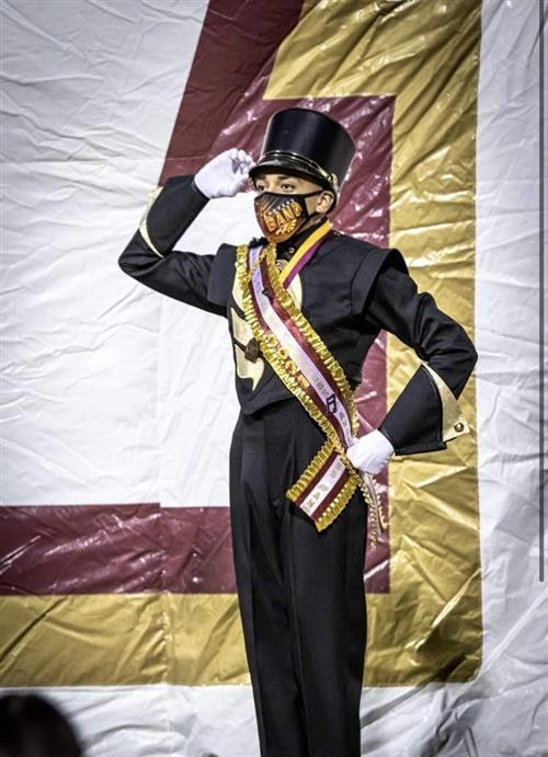 Anthony Vasquez drum major