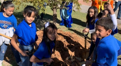 Johnson Elementary students help celebrate Texas Arbor Day