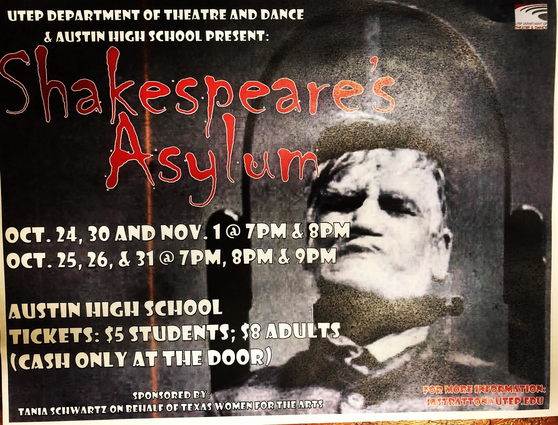 Shakespeare Asylum Flyer
