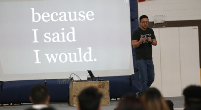 Inspirational speaker Alex Sheen brings mantra of kept promises to EPISD