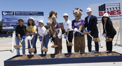 Students, staff and alumni celebrate Burges High Bond 2016 groundbreaking