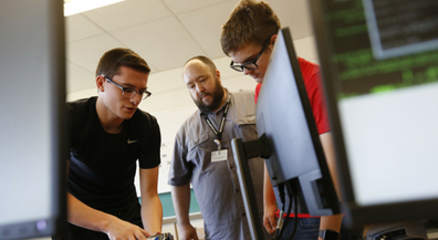 CCTE students work to prepare computers for start of school year