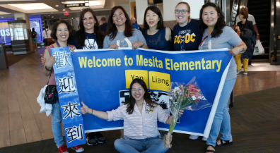 Mesita welcomes Chinese exchange teacher