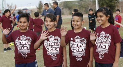Hart and Zavala reading clubs face off on the field, court