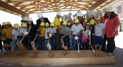 Groundbreaking ceremony kicks off major construction at Crockett Elementary