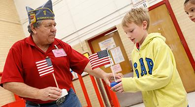 Flags for Kids: Vets teach students the importance of the Old Glory