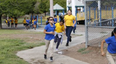 Marathon Kids: Grant helps Hawkins students track running distance