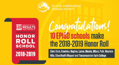 10 EPISD schools named to Honor Roll