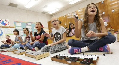 Bradley students learn music through play and movement