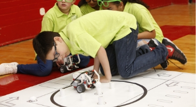Elementary students show off coding skills at robotics competition