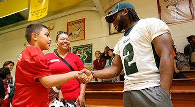 NFL draft hopeful comes home to Ross Middle