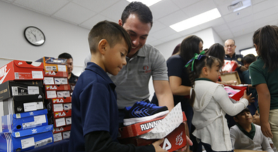 Pumped Up Kicks: Rotarians provide new shoes for students at 3 EPISD schools