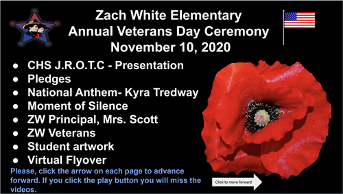 Zach White Veterans Day