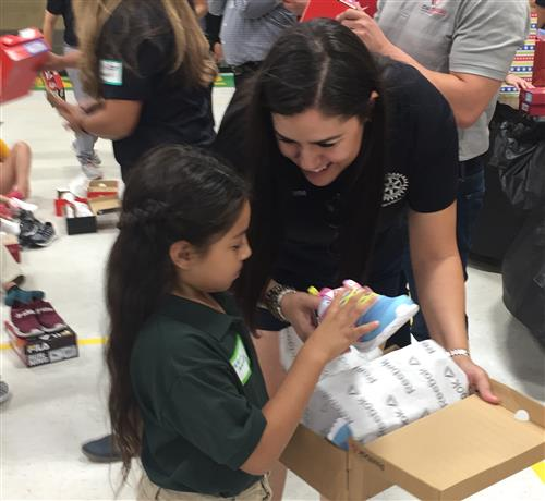 Rotary Shoe Giveaway at Lamar