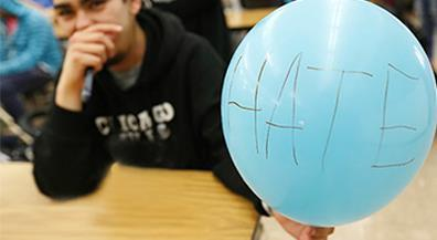 CCTA students 'Stomp Out Hate' with walk and balloon release