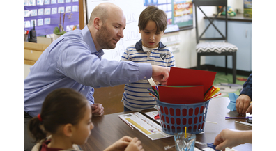 Bond Elementary event invites dads to get engaged