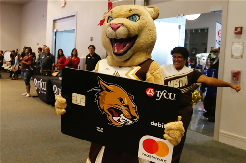 TFCU High School Spirit Debit Card launch Austin