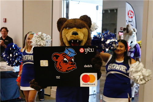 TFCU High School Spirit Debit Card launch Bowie