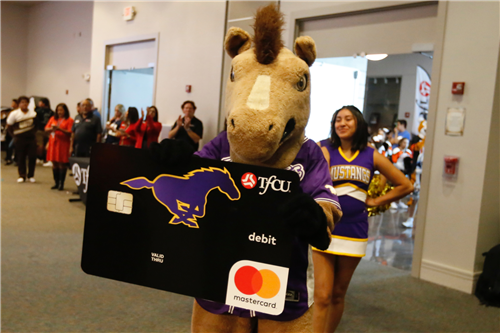 TFCU High School Spirit Debit Card launch Burges