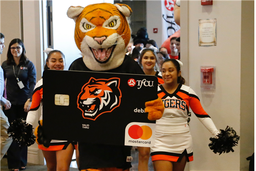 TFCU High School Spirit Debit Card launch El Paso High