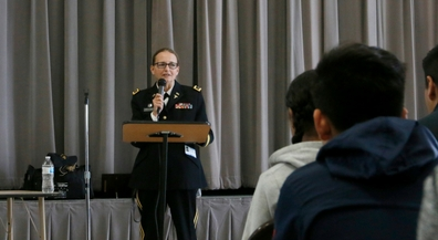 Retired Army general visits Terrace Hills for Women's Month celebration