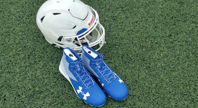 Bowie Alumni donate blue cleats to Bears football team