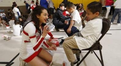 Braden Aboud Foundation gives shoes to Cooley students