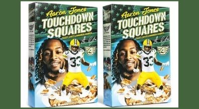 Aaron Jones Touchdown Squares cereal featuring Burges standout coming to El Paso