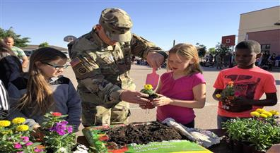 Gardening with Military Dads