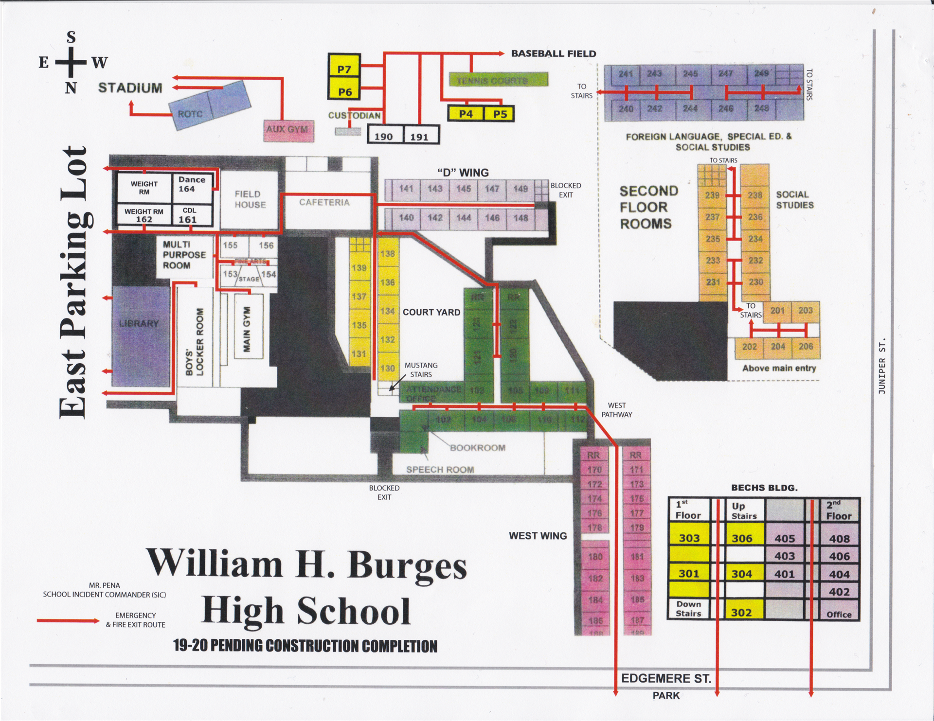Campus Map (w/ Emergency Exit Routes)